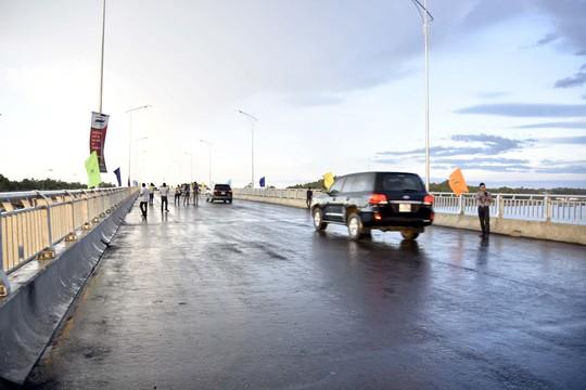 Cầu Trà Bồng mới chính thức được đưa vào sử dụng