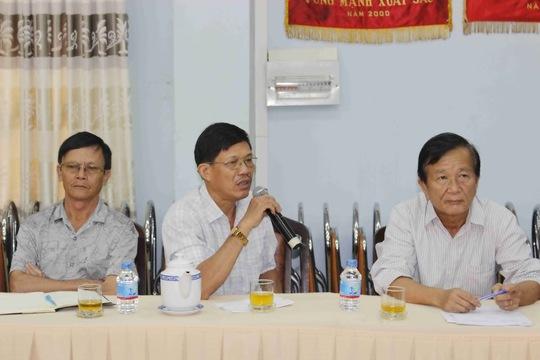 Thành viên Tổ Dư luận xã hội quận Thủ Đức phát biểu ý kiến tại buổi làm việc