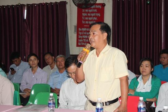 Cán bộ CĐ phát biểu ý kiến tại tọa đàm
