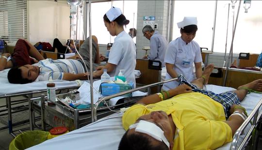 Nạn nhân bị TNGT cấp cứu tại Bệnh viện Chợ Rẫy trưa 4-9