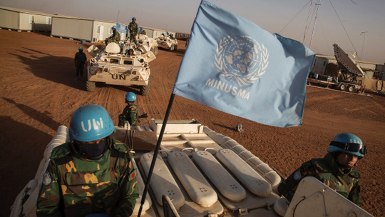 Lực lượng gìn giữ hoà bình của LHQ tại Mali. Ảnh: AP