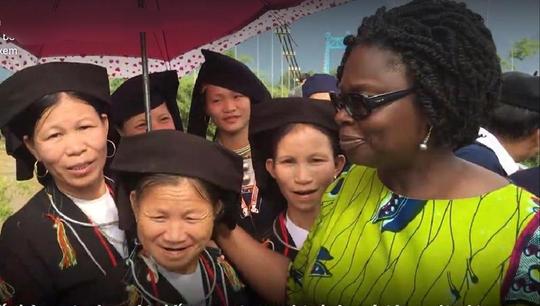 Bà Victoria Kwakwa khi còn là Giám đốc Quốc gia của WB tại Việt Nam - Ảnh cắt từ clip