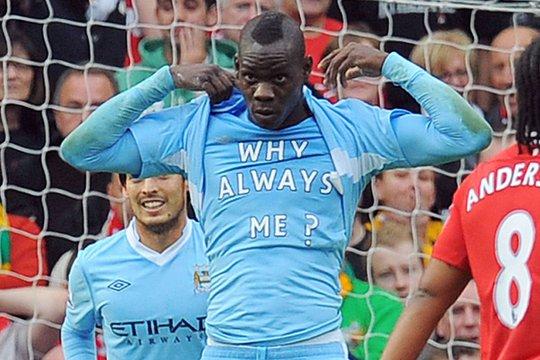 Balotelli có thời gian tỏa sáng ở Man City trước khi phiêu bạt khắp nơi