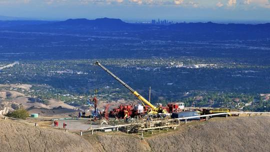 Công ty khí gas miền Nam California đang tập trung ngăn chặn vụ rò rỉ. Ảnh: AP