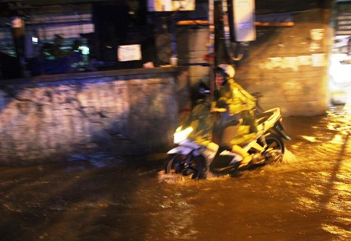 Mưa lớn ở TP HCM: Đường ngập, kẹt xe, cây gãy