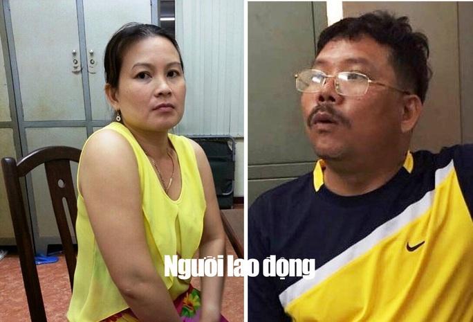 1.Bà Vân (trái) cùng ông Thới được cho là ôm trùm, bà trùm của 2 đường dây logo xe vua.