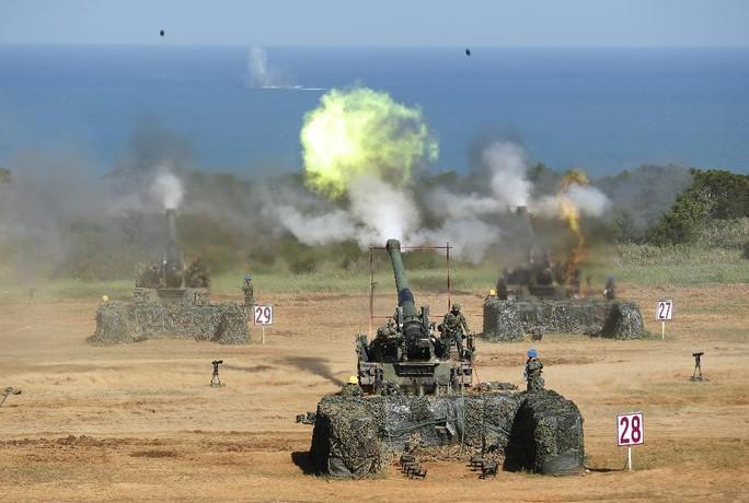 Cuộc tập trận Han Kuang của Đài Loan hôm 10-9. Ảnh: AP