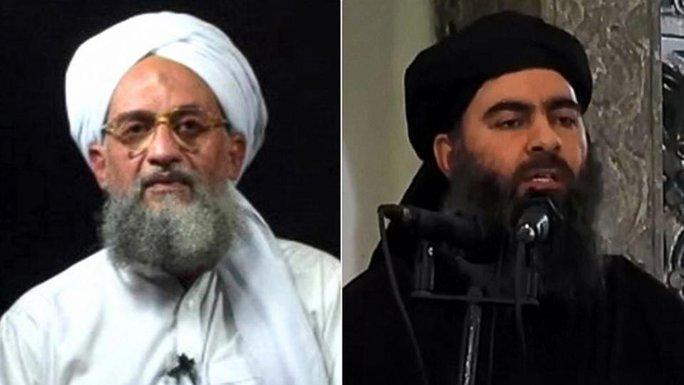 Thủ lĩnh al-Qaeda Ayman al-Zawahiri (trái) và thủ lĩnh IS Abu Bakr al-Baghdadi. Ảnh: ABC News