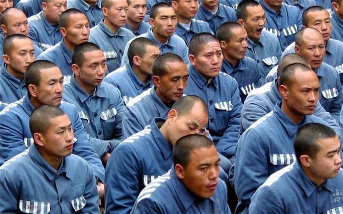 Tù nhân Trung Quốc. Ảnh: EPA