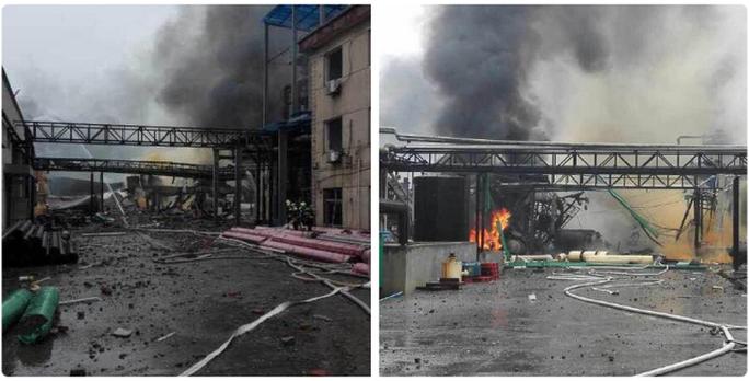 Hiện trường vụ nổ nhà máy Hongxiang. Ảnh: CCTV