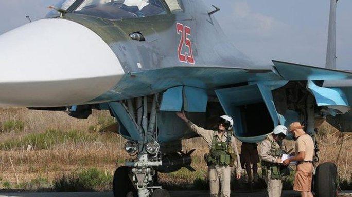 Nga bắt đầu không kích IS tại Syria từ ngày 30-9. Ảnh: EPA
