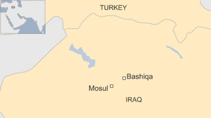 Một tiểu đoàn của Thổ Nhĩ Kỳ đã tới thị trấn Bashiqa. Ảnh: Reuters