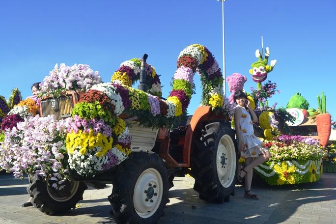 Hình ảnh hấp dẫn, độc đáo ở Festival hoa Đà Lạt
