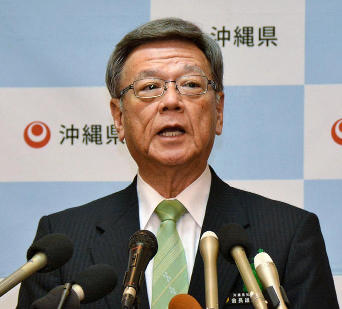 Tỉnh trưởng đảo Okinawa Takeshi Onaga. Ảnh: AP