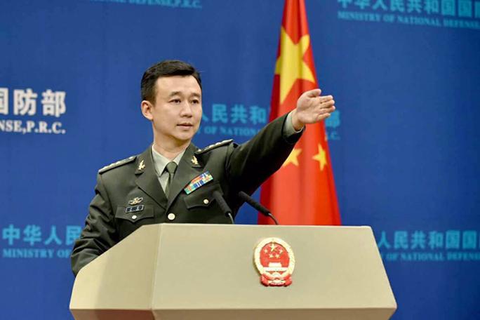 Đại tá Wu Qian - Người phát ngôn Bộ Quốc phòng Trung Quốc. Ảnh: China Daily