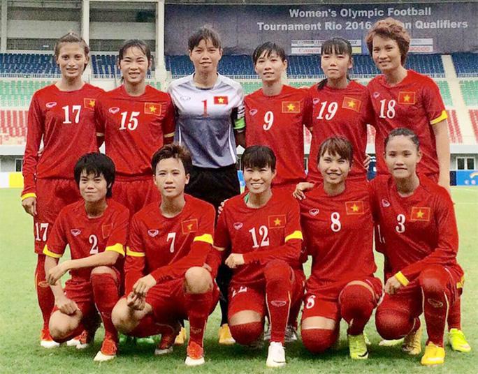 Đội hình xuất phát của tuyển nữ Việt Nam trong trận gặp Jordan