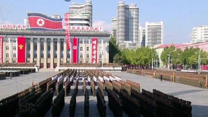 Lễ duyệt binh tại Triều Tiên ngày 10-10. Ảnh: Reuters