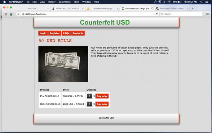 Mọi mặt hàng phạm pháp đều có trên Dark Web như giao dịch tiền giả...