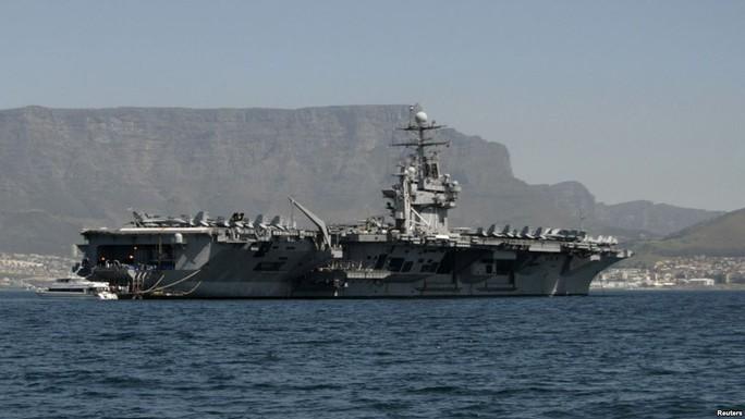 Tàu sân bay USS Theodore Roosevelt. Ảnh: Reuters