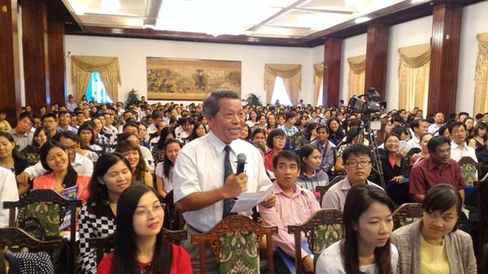 Rất đông đại diện doanh nghiệp tham gia buổi đối thoại với lãnh đạo Bộ Tài chính