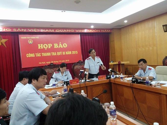 Phó Tổng TTCP Ngô Văn Khánh chủ trì họp báo
