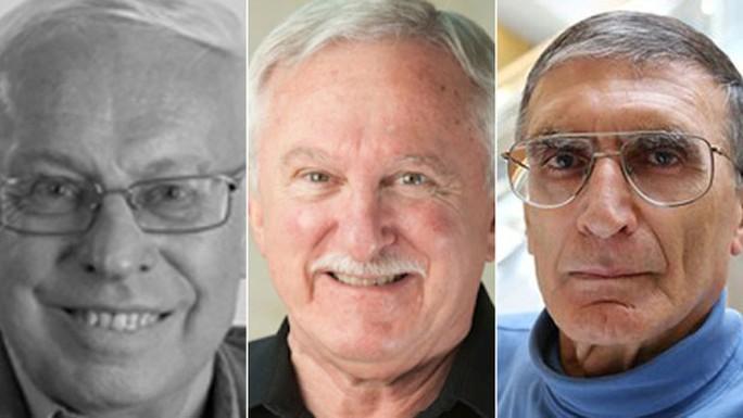 Từ trái qua phải: Các nhà khoa học Tomas Lindahl, Paul Modrich và Aziz Sancar Ảnh: CBC NEWS