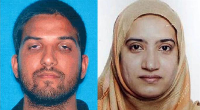 Tashfeen Malik (phải) và chồng Farook đã bị cảnh sát tiêu diệt sau vụ xả súng hôm 2-12 ở San Bernardino, California. Ảnh: NBC