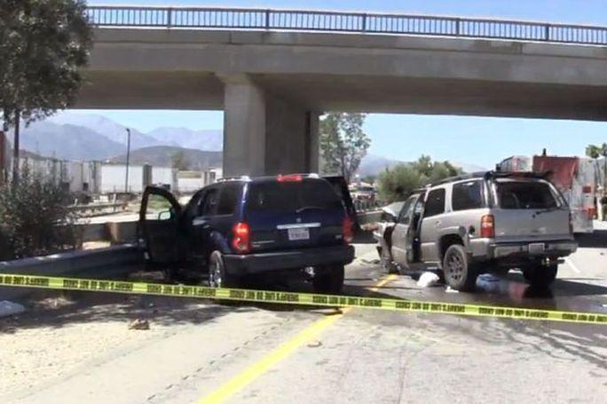 Kẻ cướp chạy ngược chiều, bị trực thăng cảnh sát bắn chết