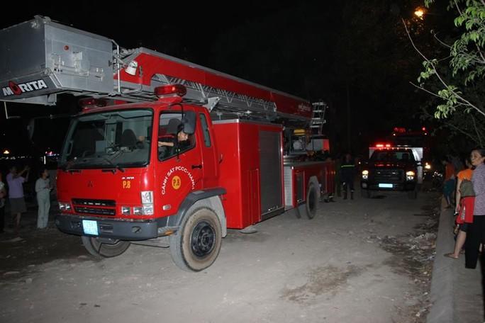 Xe chữa cháy được điều đến ứng cứu nhưng đã về ngay sau đó