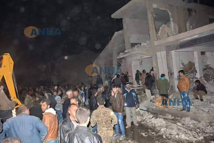 Các vụ nổ xảy ra gần một bệnh viện của người Kurd và khu chợ Souk Al Jumla. Ảnh: Twitter
