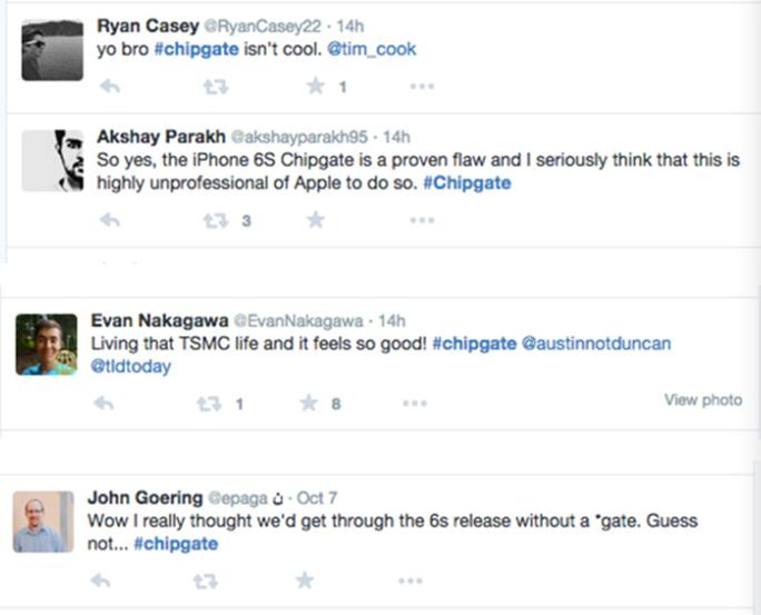 #chipgate đang trở thành từ khoá nóng trên các mạng xã hội.