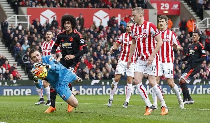 Butland của Stoke có trận đấu xuất sắc, làm nản lòng các chân sút M.U