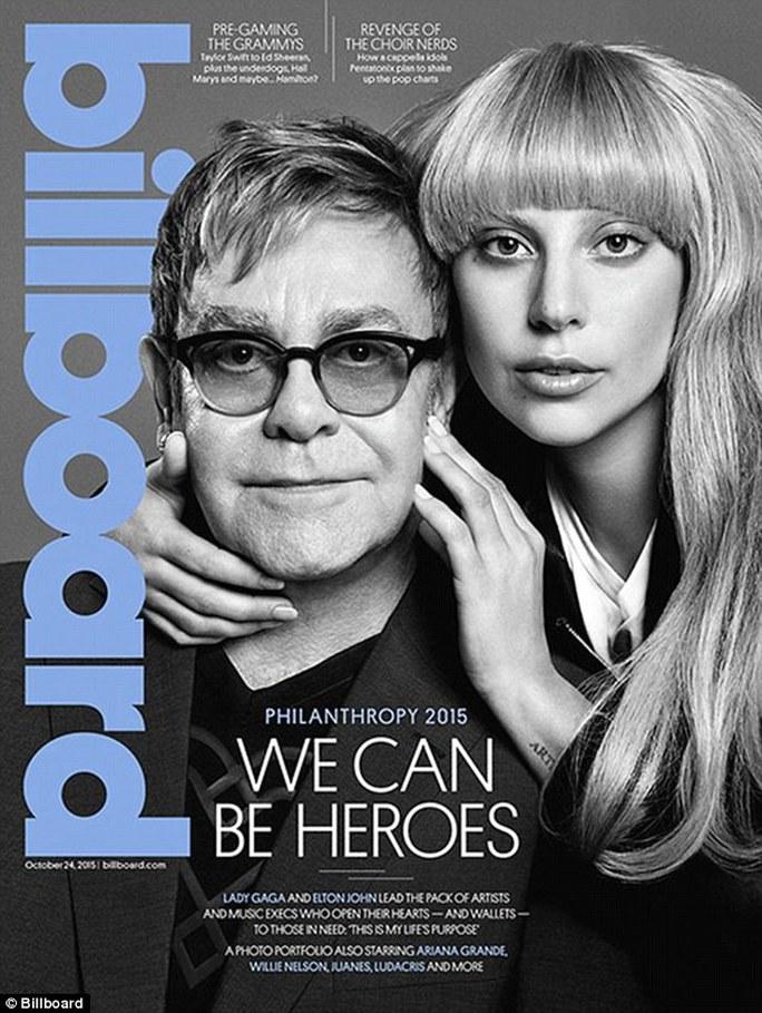 Lady Gaga và Elton John trên bìa Billboard