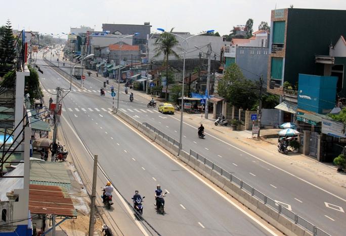 Một đoạn Quốc lộ 1A qua Quảng Ngãi sau khi được nâng cấp, mở rộng hoàn thành