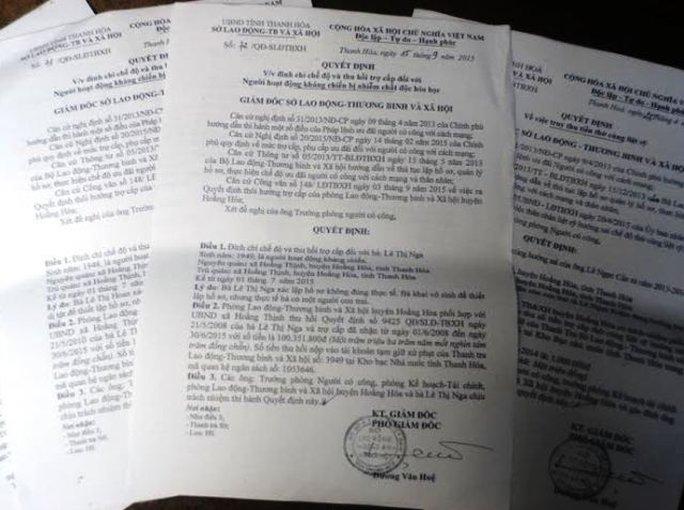 Quyết định đình chỉ công tác đối với những chế độ hưởng sai chính sách của huyện Hoằng Hóa - Thanh Hóa