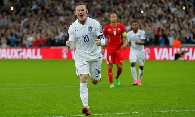 Tiền đạo Rooney ghi bàn thứ 50 của mình trong trận gặp Thụy Sĩ giữa tuần qua