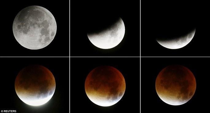 """Ngắm hiện tượng """"siêu trăng máu"""" khiến nhiều người sợ hãi"""