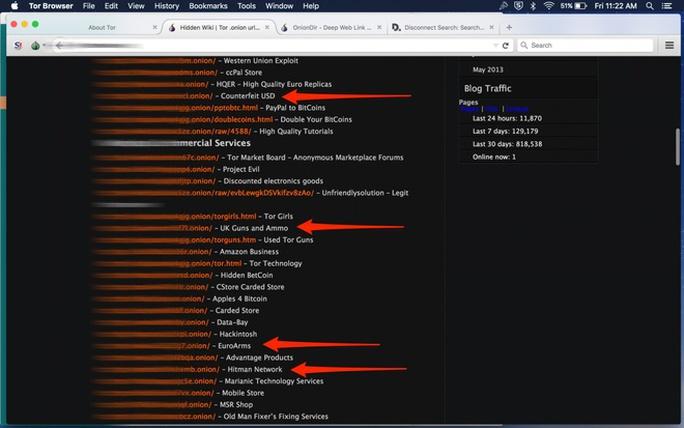 Dark Web không sử dụng địa chỉ URL thông thường như Google.com. Những site ẩn này dùng đuôi .onion thay cho .com.