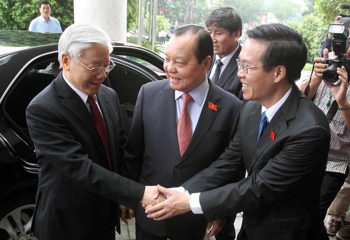 Lãnh đạo Thành ủy đón Tổng Bí thư Nguyễn Phú Trọng