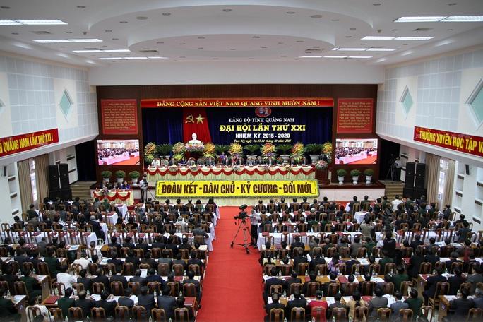 Quang cảnh Đại hội đại biểu Đảng bộ tỉnh Quảng Nam lần thứ XXI