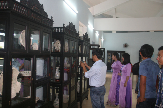 Những cổ vật trục vớt dưới đáy biển Cù Lao Chàm được trưng bày ngay tại xã đảo này