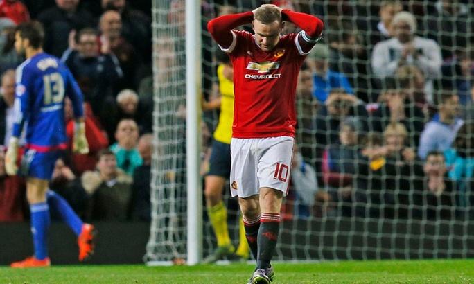 Rooney gây thất vọng trong những trận đấu vừa qua của M.U