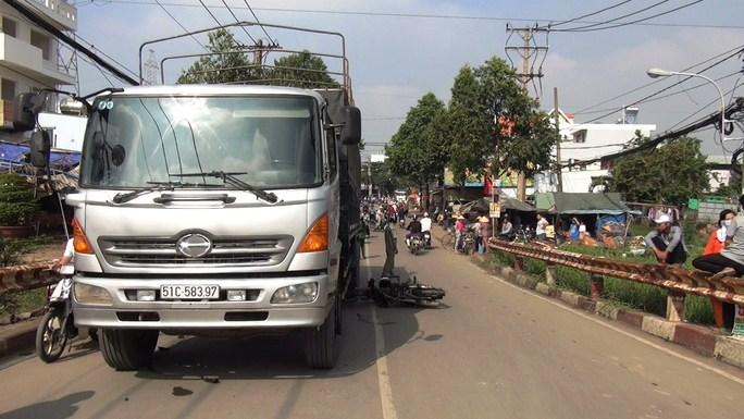 Hiện trường vụ tai nạn khiến nạn nhân Tâm nguy kịch
