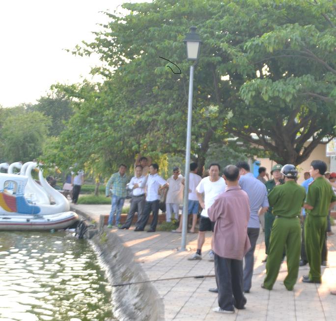 Hồ Goong, nơi phát hiện thi thể người phụ nữ - Ảnh: Bình Đào