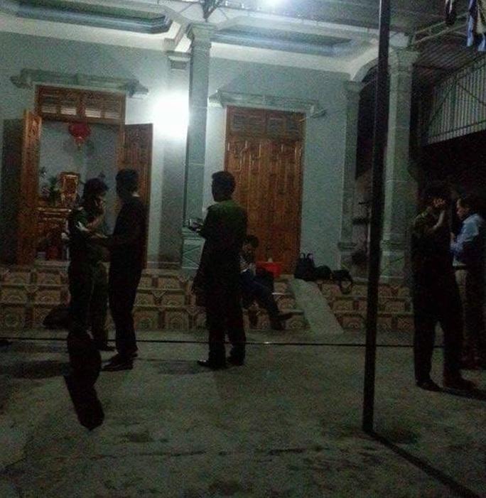 Hiện trường vụ Nguyễn Hữu Khính giết vợ trong đêm.