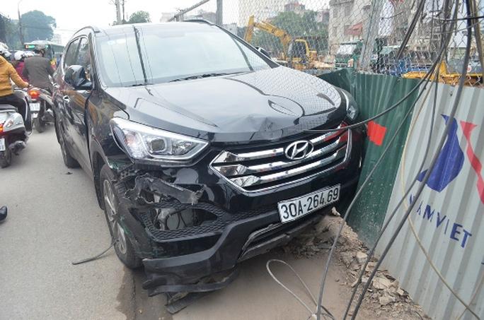 Chiếc xe Santafe sau vụ tai nạn