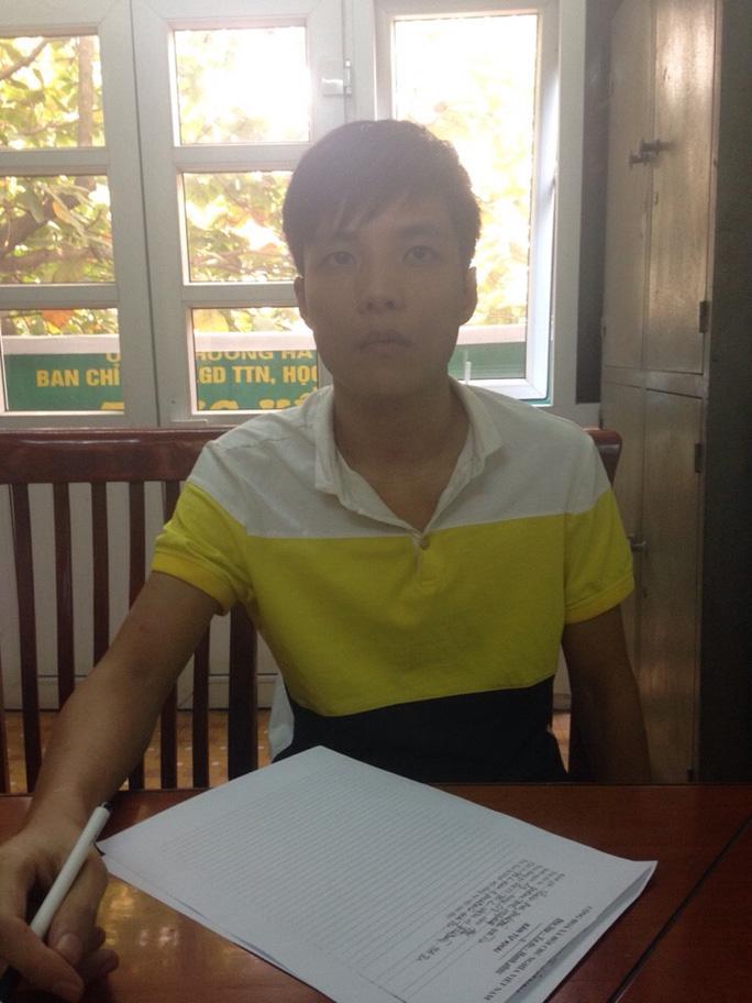 Phạm Thế Huỳnh tại cơ quan công an
