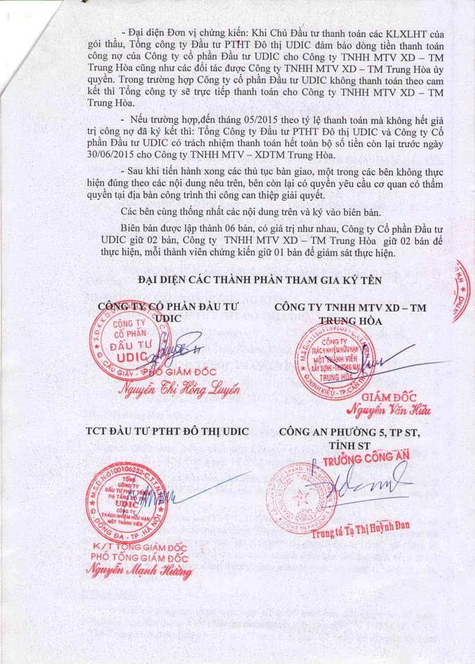 Biên bản cam kết trả dứt nợ trước ngày 30-6-2015 do ông Nguyễn Mạnh Hường ký