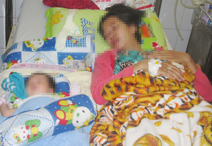 Chị Ly cùng con gái đang được theo dõi điều trị tại Bệnh viện Đa khoa Phú Quốc.