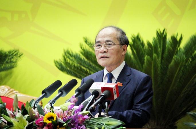 Chủ tịch QH Nguyễn Sinh Hùng phát biểu chỉ đạo tại Đại hội
